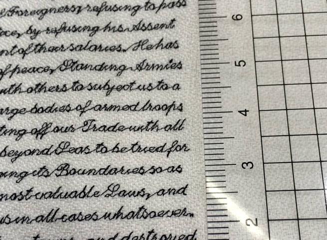 Výšivka s textom 2 mm
