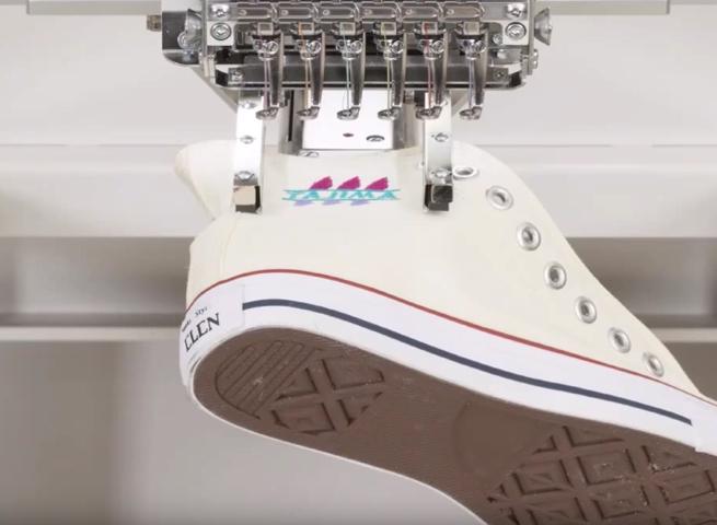 Pneumatický vreckový rám & vyšívanie obuvi